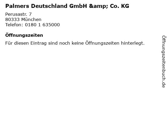 Palmers Deutschland GmbH & Co. KG in München: Adresse und Öffnungszeiten