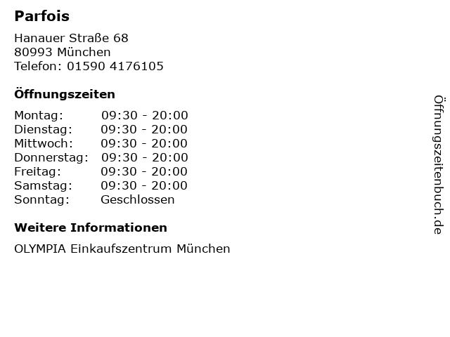 Parfois in München: Adresse und Öffnungszeiten