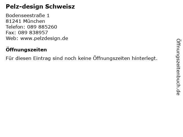 Pelz-design Schweisz in München: Adresse und Öffnungszeiten