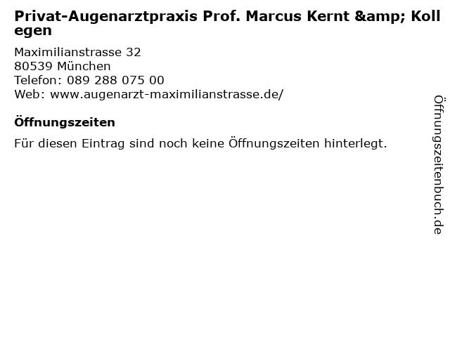 Privat-Augenarztpraxis Prof. Marcus Kernt & Kollegen in München: Adresse und Öffnungszeiten