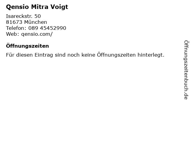 Qensio Mitra Voigt in München: Adresse und Öffnungszeiten
