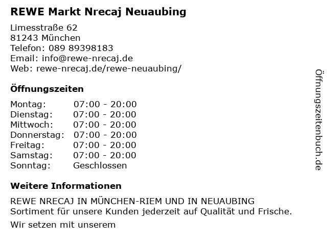 REWE Markt Nrecaj Neuaubing in München: Adresse und Öffnungszeiten