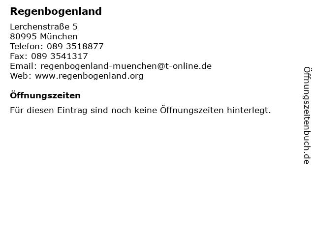 Regenbogenland in München: Adresse und Öffnungszeiten