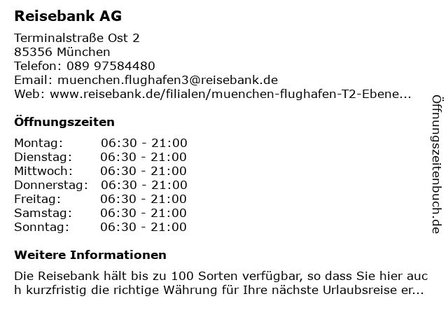 ReiseBank AG in München: Adresse und Öffnungszeiten