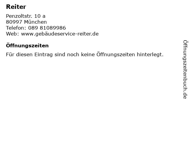 ᐅ Offnungszeiten Reiter Penzoltstr 10 A In Munchen