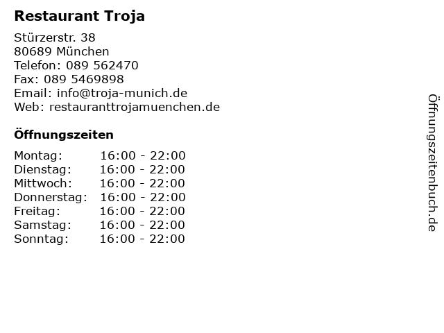 Restaurant Troja in München: Adresse und Öffnungszeiten