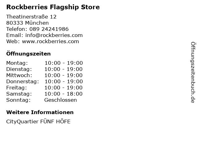 Rockberries Flagship Store in München: Adresse und Öffnungszeiten