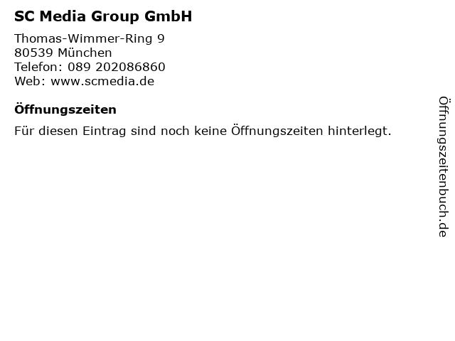 SC Media Group GmbH in München: Adresse und Öffnungszeiten