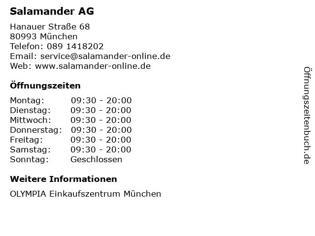 Salamander AG in München: Adresse und Öffnungszeiten