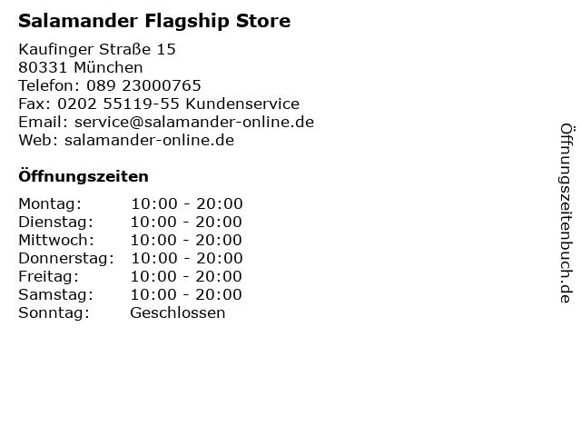 Salamander Flagship Store in München: Adresse und Öffnungszeiten