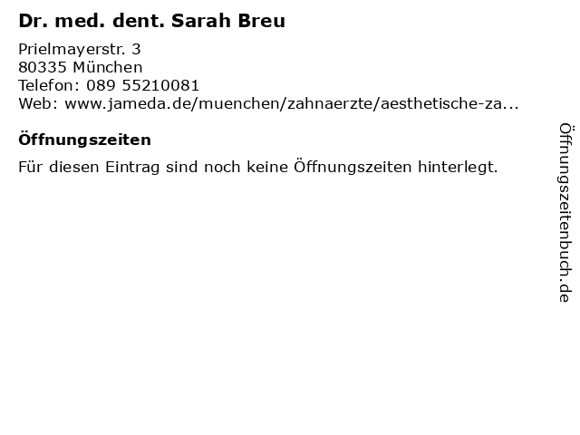 Zahnpraxis München Dr. Dr. Klaus Büning in München: Adresse und Öffnungszeiten
