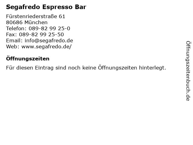 Segafredo Espresso Bar in München: Adresse und Öffnungszeiten