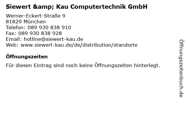 Siewert & Kau Computertechnik GmbH in München: Adresse und Öffnungszeiten