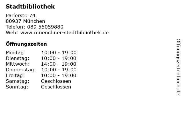 Stadtbibliothek in München: Adresse und Öffnungszeiten