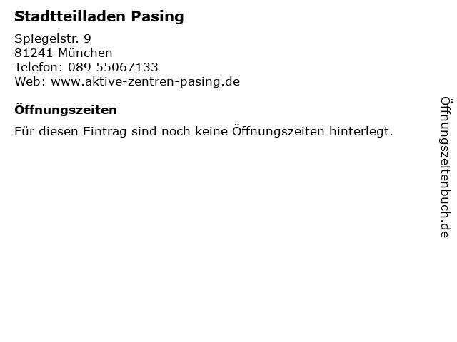 Stadtteilladen Pasing in München: Adresse und Öffnungszeiten