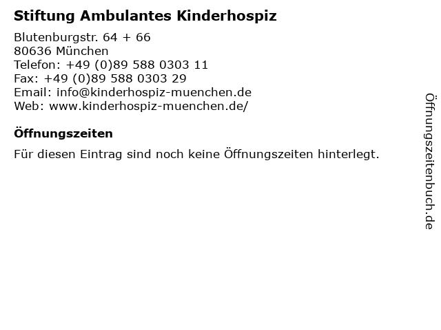 Stiftung Ambulantes Kinderhospiz in München: Adresse und Öffnungszeiten