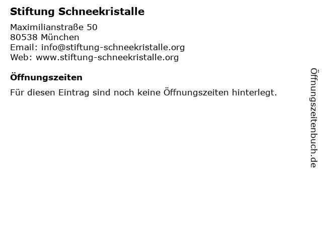 Stiftung Schneekristalle in München: Adresse und Öffnungszeiten