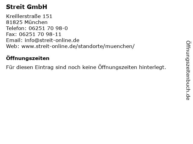 Streit GmbH in München: Adresse und Öffnungszeiten