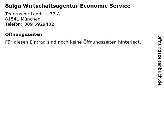 Sulga Wirtschaftsagentur Economic Service in München: Adresse und Öffnungszeiten