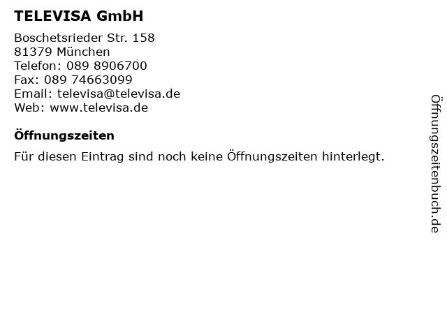 TELEVISA GmbH in München: Adresse und Öffnungszeiten