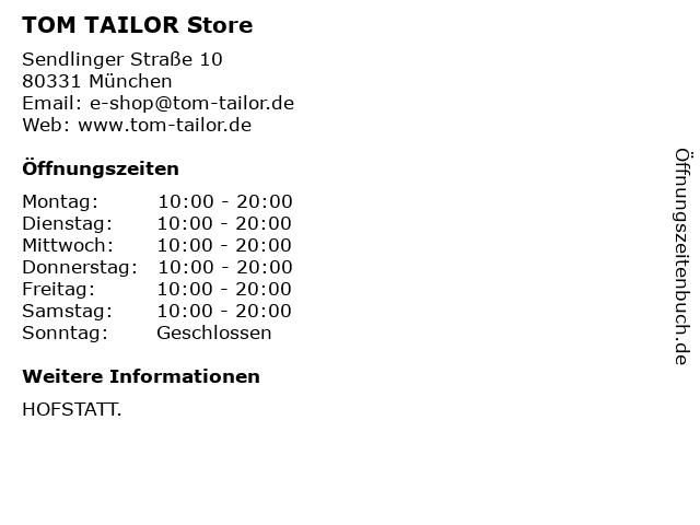 TOM TAILOR Store in München: Adresse und Öffnungszeiten