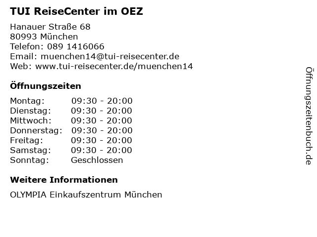 TUI ReiseCenter im OEZ in München: Adresse und Öffnungszeiten