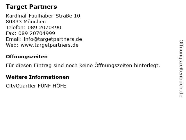 Target Partners in München: Adresse und Öffnungszeiten