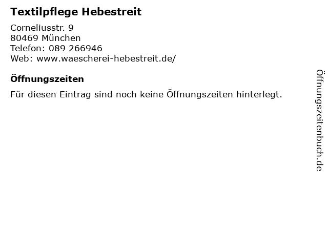 Textilpflege Hebestreit in München: Adresse und Öffnungszeiten