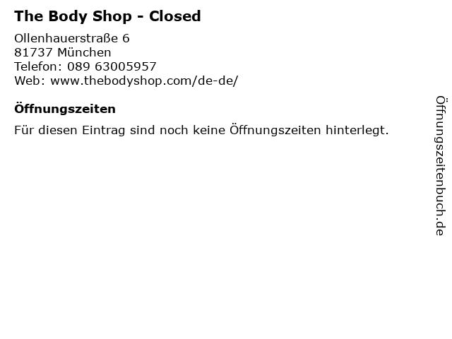 The Body Shop Germany GmbH in München: Adresse und Öffnungszeiten