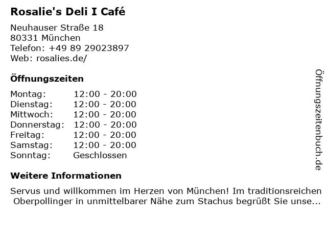 LeBuffet Restaurant im Oberpollinger in München: Adresse und Öffnungszeiten