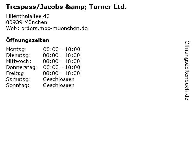 Trespass/Jacobs & Turner Ltd. in München: Adresse und Öffnungszeiten