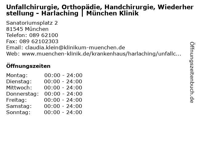 ᐅ öffnungszeiten Städtisches Klinikum Harlaching Cafeteria