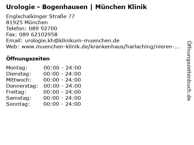 ᐅ öffnungszeiten Städtisches Klinikum Harlaching