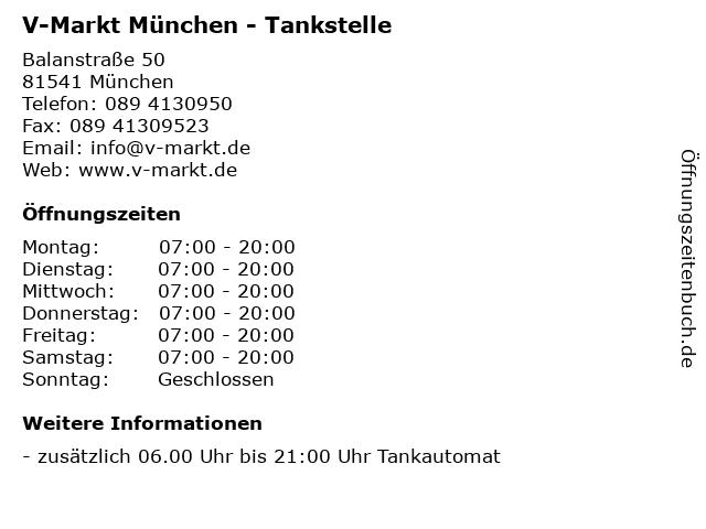 V-Markt München - Tankstelle in München: Adresse und Öffnungszeiten