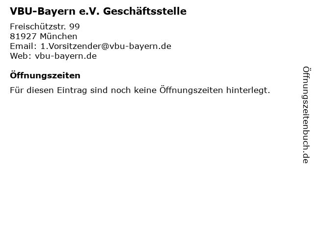 VBU-Bayern e.V. Geschäftsstelle in München: Adresse und Öffnungszeiten