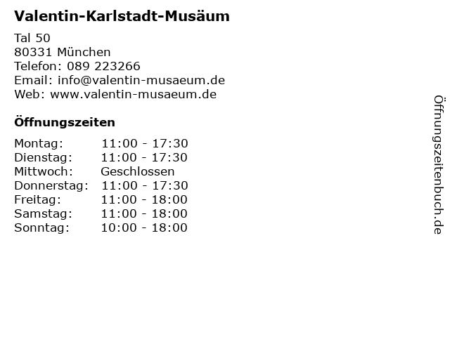 Valentin-Karlstadt-Musäum in München: Adresse und Öffnungszeiten
