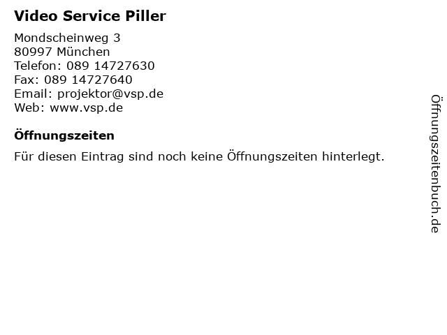 Video Service Piller in München: Adresse und Öffnungszeiten