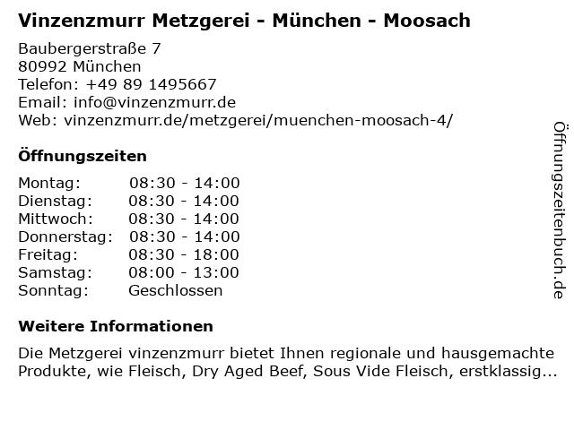 vinzenzmurr in München: Adresse und Öffnungszeiten