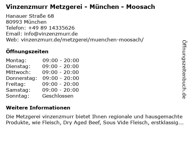 Vinzenzmurr Metzgerei & Feinkost in München: Adresse und Öffnungszeiten