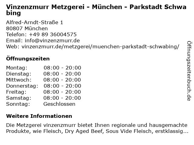 vinzenzmurr Vertriebs GmbH in München: Adresse und Öffnungszeiten