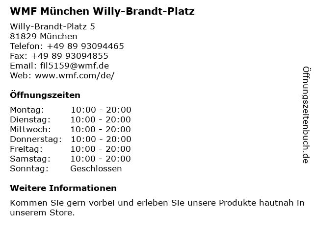 WMF München - Riem-Arcaden München in München: Adresse und Öffnungszeiten