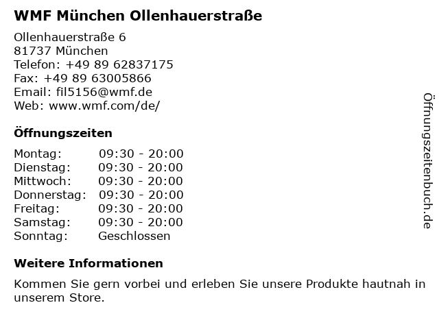 WMF München - Perlacher Einkaufspassagen München in München: Adresse und Öffnungszeiten