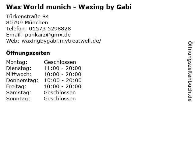 Wax World munich - Waxing by Gabi in München: Adresse und Öffnungszeiten