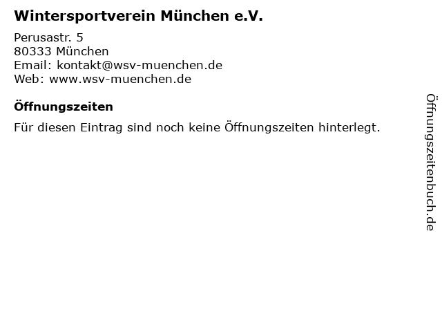 Wintersportverein München e.V. in München: Adresse und Öffnungszeiten