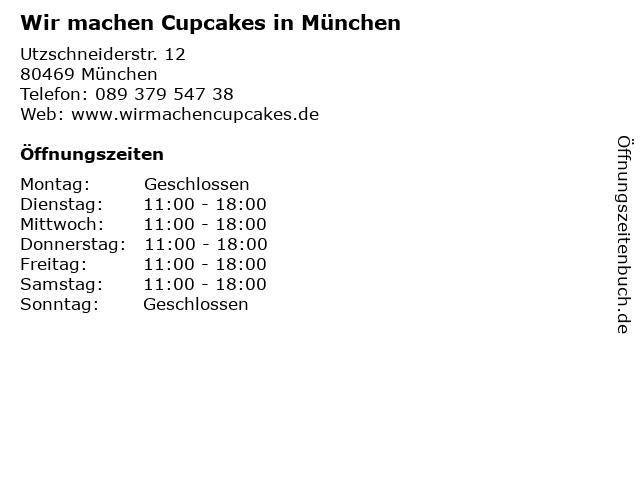 Wir machen Cupcakes in München in München: Adresse und Öffnungszeiten