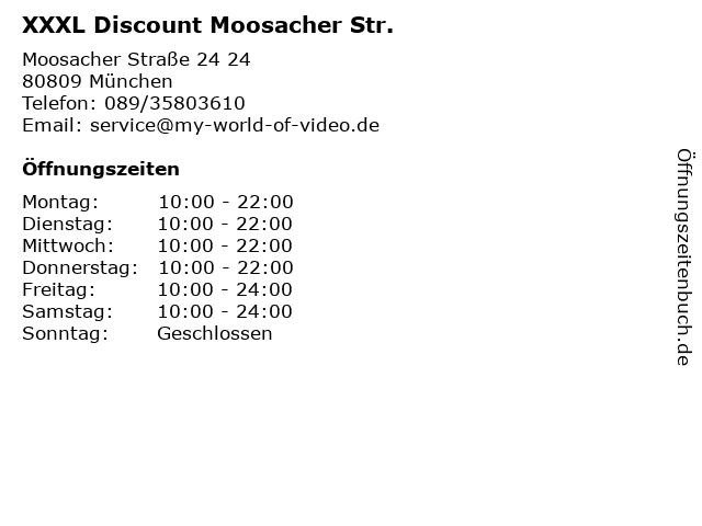 ᐅ öffnungszeiten Xxxl Discount Moosacher Str Moosacher Straße