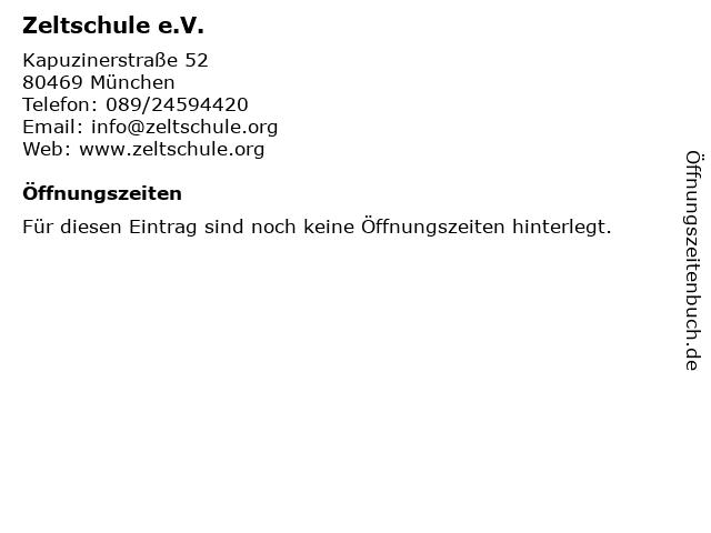 Zeltschule e.V. in München: Adresse und Öffnungszeiten