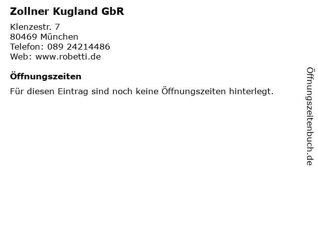 Zollner Kugland GbR in München: Adresse und Öffnungszeiten