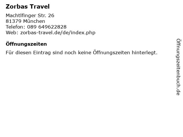 Zorbas Travel in München: Adresse und Öffnungszeiten
