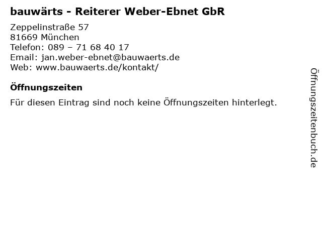 bauwärts - Reiterer Weber-Ebnet GbR in München: Adresse und Öffnungszeiten